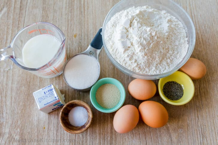 Ingredients for making yeast bread