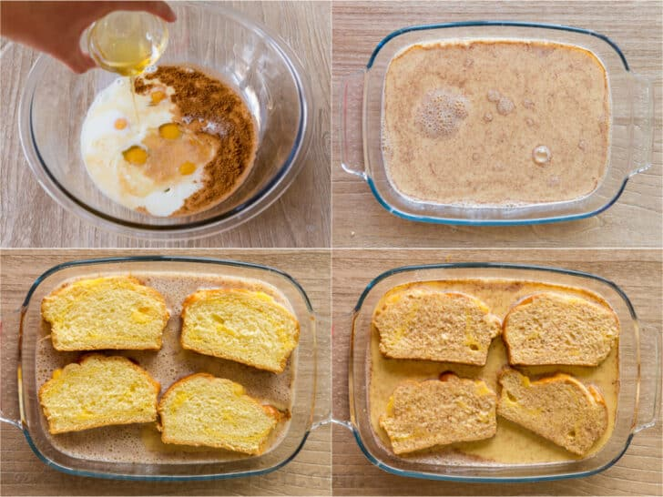 Step by step how to make Egg dip and soak bread