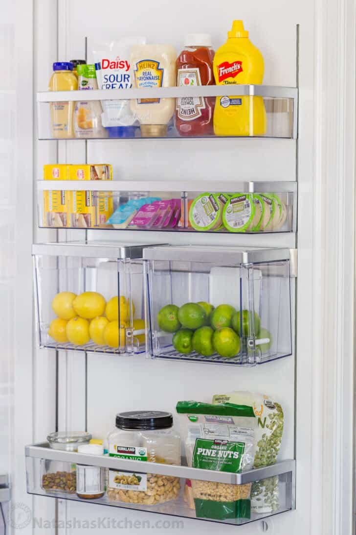 What to store on refrigerator door