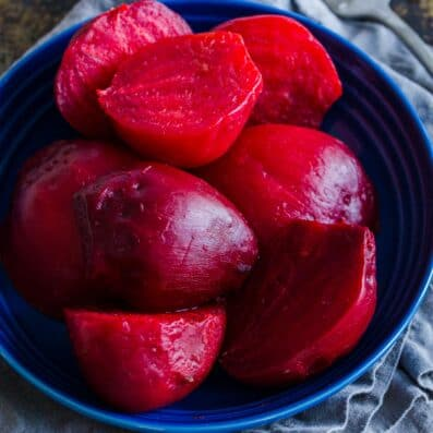 Instant pot cooked beets
