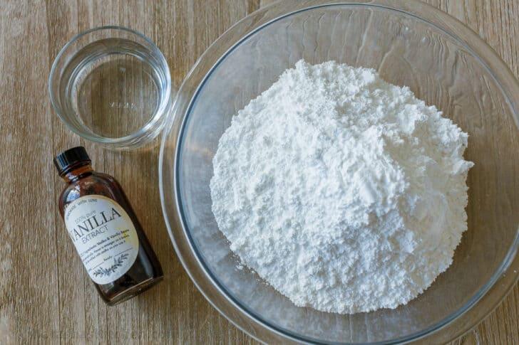 Ingredients for Donut Glaze