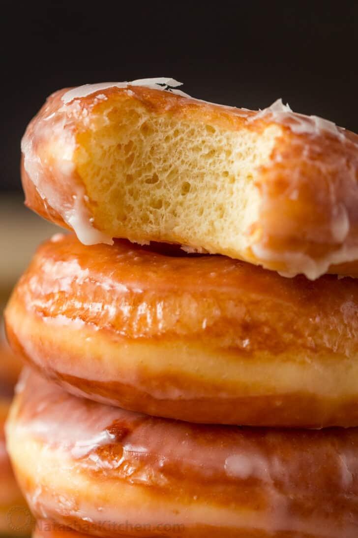 Center view of fluffy donut