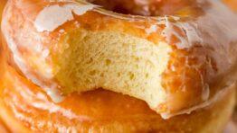 Stacked glazed donuts recipe