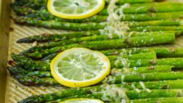 Roasted Asparagus on baking sheet