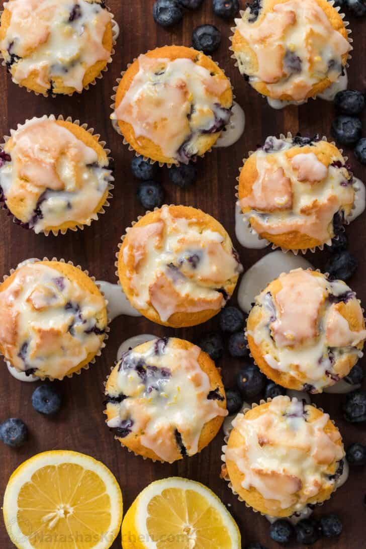 glazed blueberry muffins