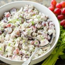 Chicken salad in bowl