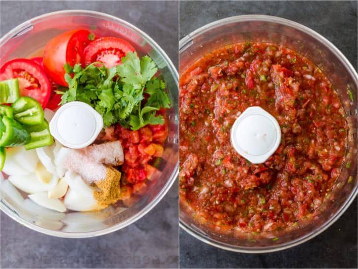How to blend Salsa ingredients in a food processor