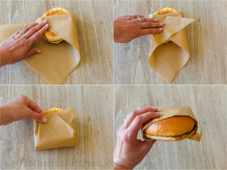 How to wrap a burger