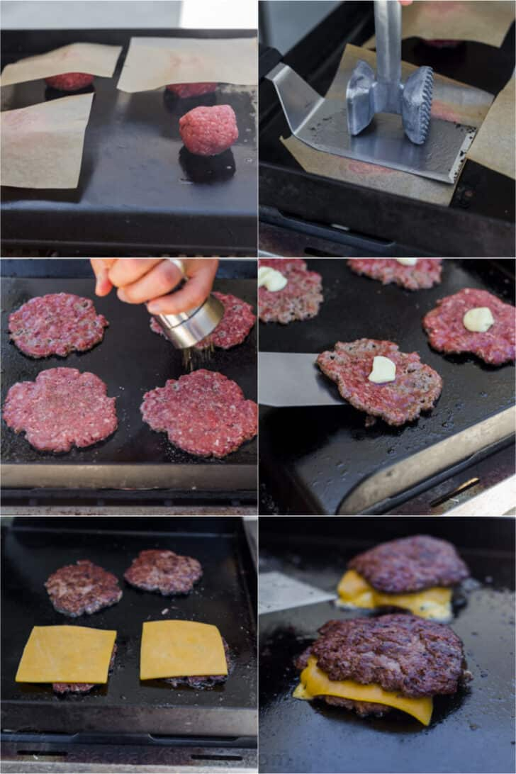 how to make smash burgers step by step