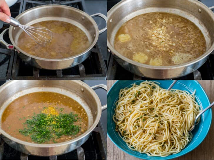How to make scampi sauce and pasta