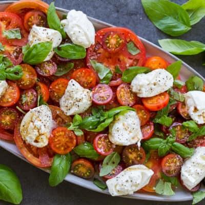 Burrata salad with tomatoes