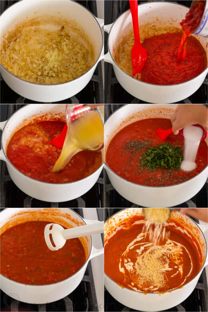 Step by step how to make tomato soup