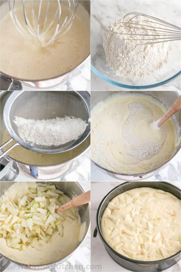 Step by step how to make Sharlotka apple cake recipe