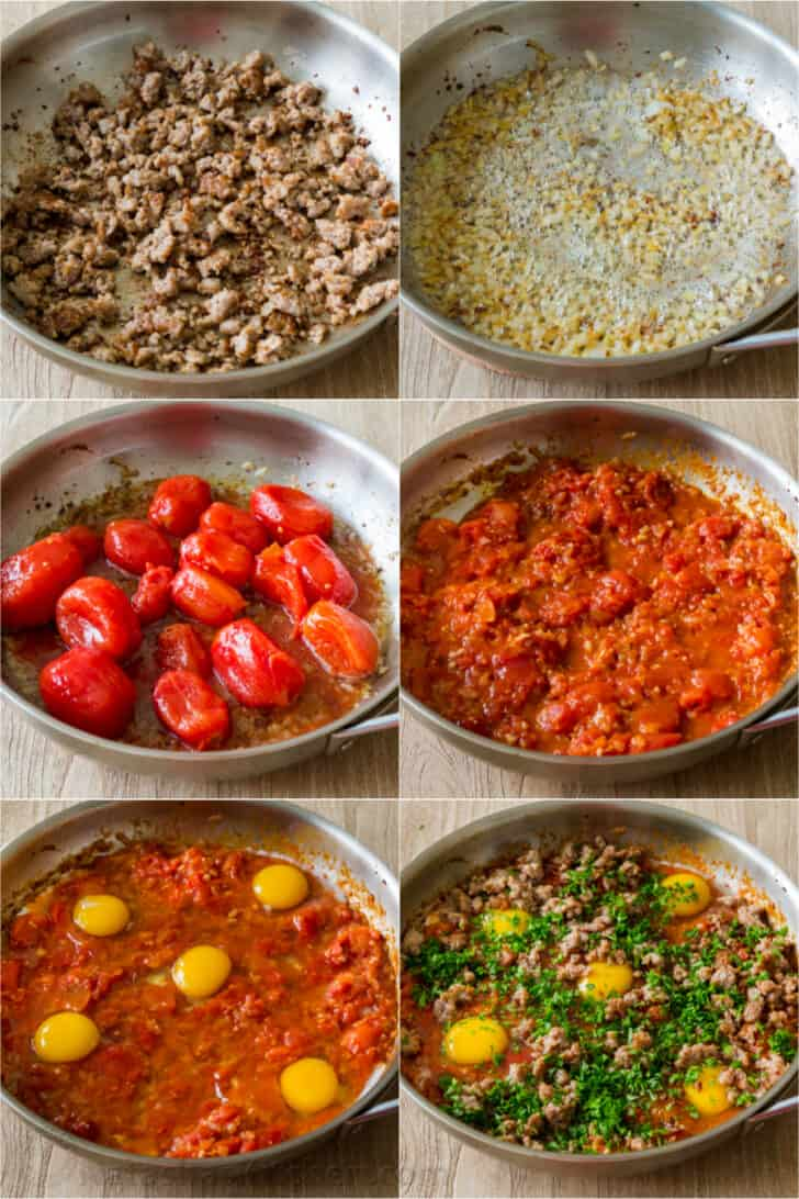 Step by step how to make Shakshuka