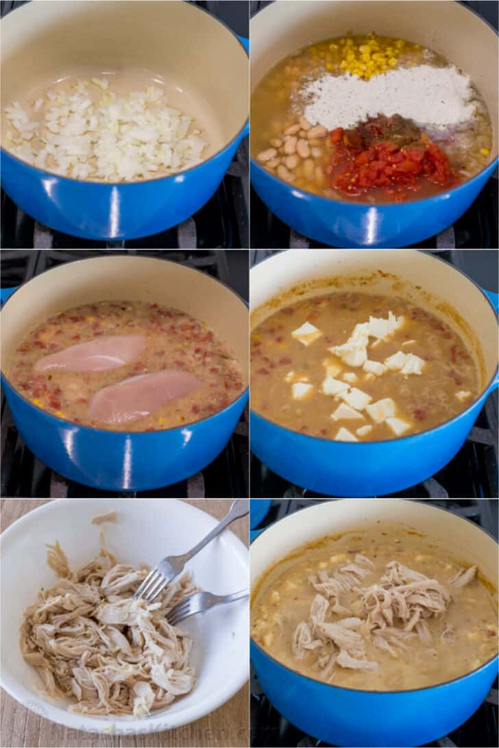 Step by step how to make white chicken chili