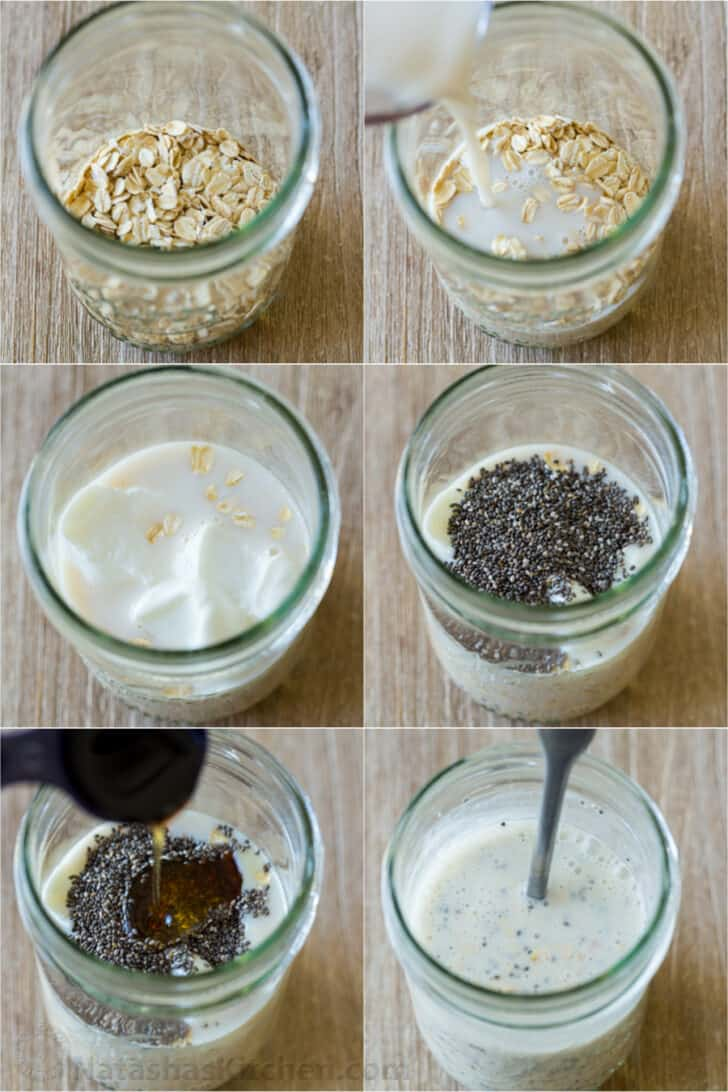 Step by step how to make overnight oats