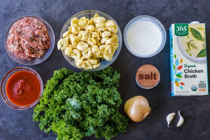 ingredients for tortellinin soup