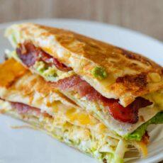 Breakfast tortilla wrap fold